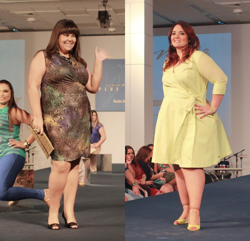 Fabiana Karla e Renata Celidonio no desfile Fashion Weekend Plus Size (Fotos: Henrique Mathias)