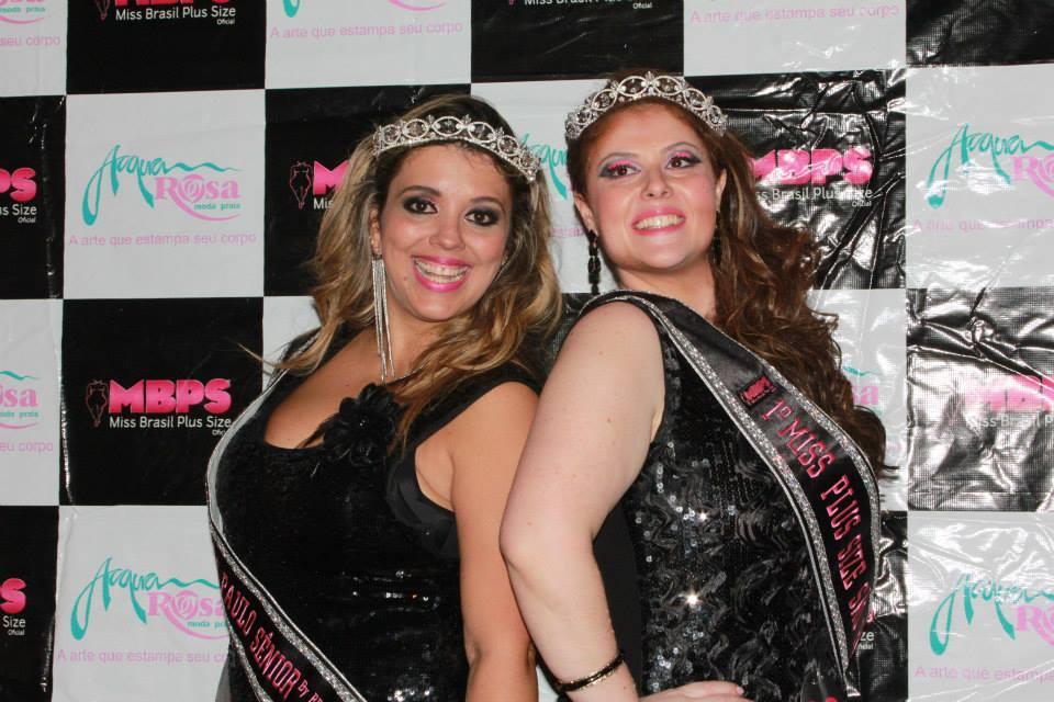 Tininha Bhering, Miss Plus Size Sênior São Paulo 2013 e Ana Paula Leoni, Miss Plus Size São Paulo 2013 são as novas representantes do estado (Foto: Amanda Pinson)