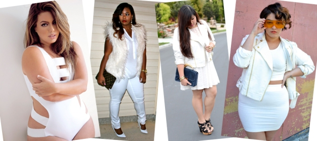 total white plus size